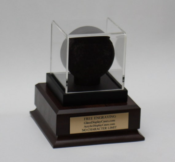 Free Personalized Plaque Included Hockey Puck Holder Display Case