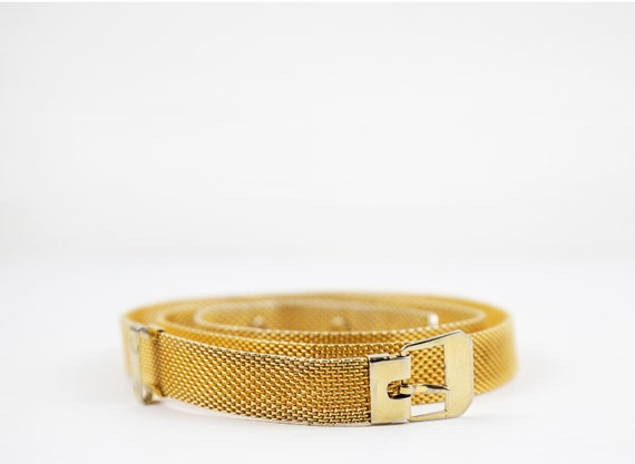 Vintage Gold Minimalist Mesh Belt