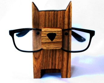 744728f52d3 Dog Wearing Eyeglasses Stand   Glasses Holder - Perfect Gift For Animal  Lovers