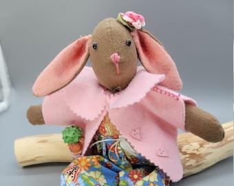 Cloth Bunny- Room decor- Fabric Doll