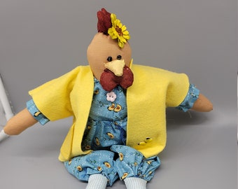 Cloth Chicken- Room decor- Fabric Doll