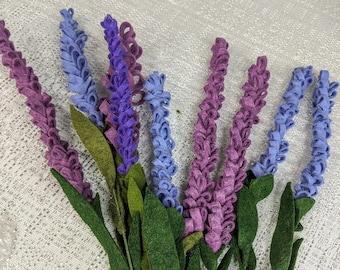 Felt Lavender Bouquet, Flower Arrangement, Felt flowers