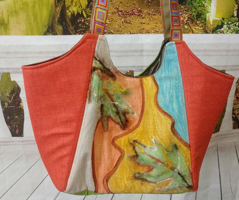Artistic Handmade Bag Textile Mix Bag OOAK Bag handmade image 0