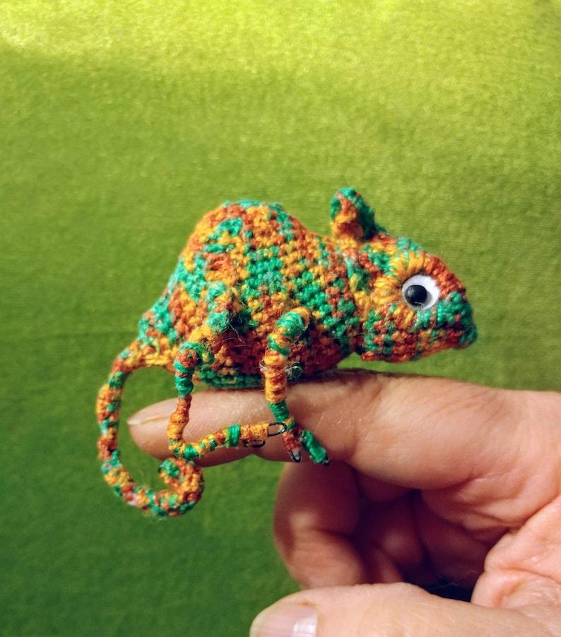 Crochet ooak Chameleon  Stuffed animal image 0