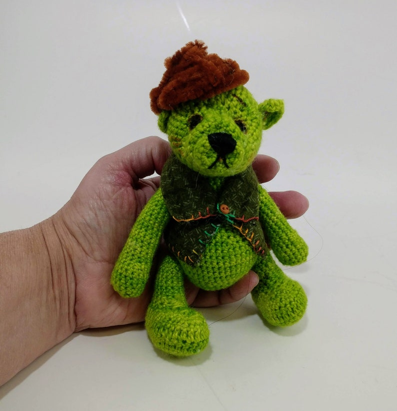 Crochet ooak Teddy Bear  Eco-friendly  Stuffed animal image 0
