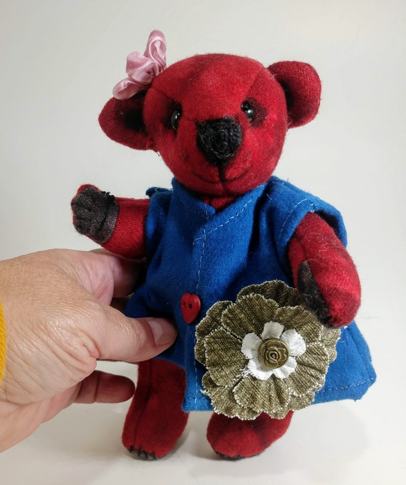 Wool ooak Teddy bBear  Eco-friendly  Stuffed animal image 0
