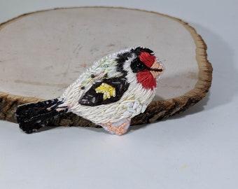 Beaded Embroidered Bird Brooch,  Beaded Bird