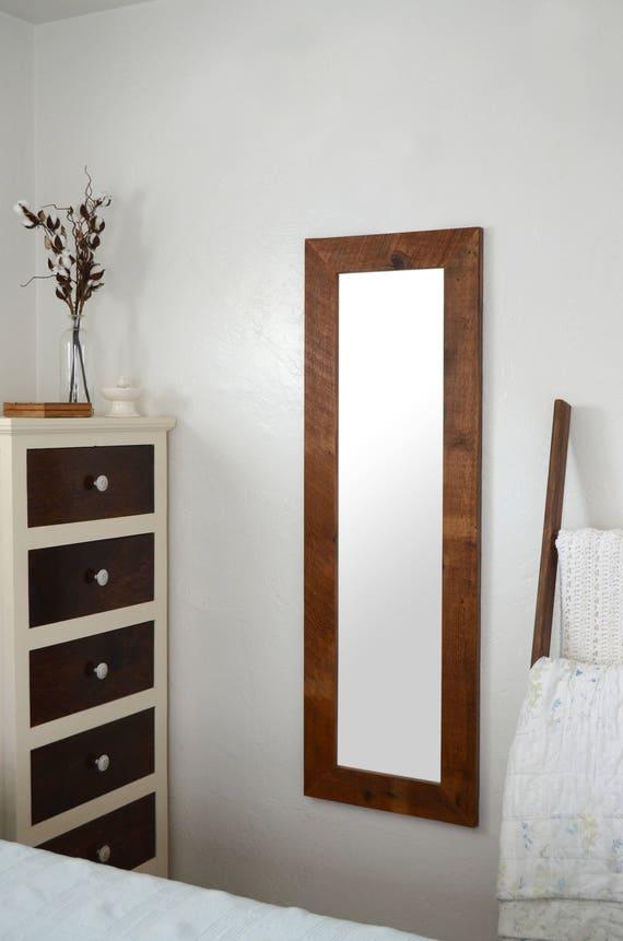 Garderobe Holz Spiegel Aufgearbeiteten Holz Spiegel Holz Etsy