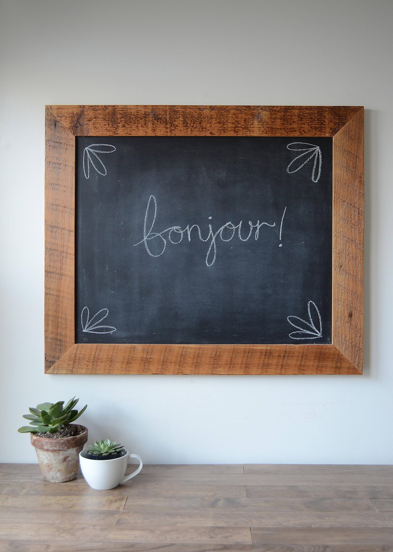 Rustikale eingerahmt Tafel zurückgefordert Tafel Altholz | Etsy