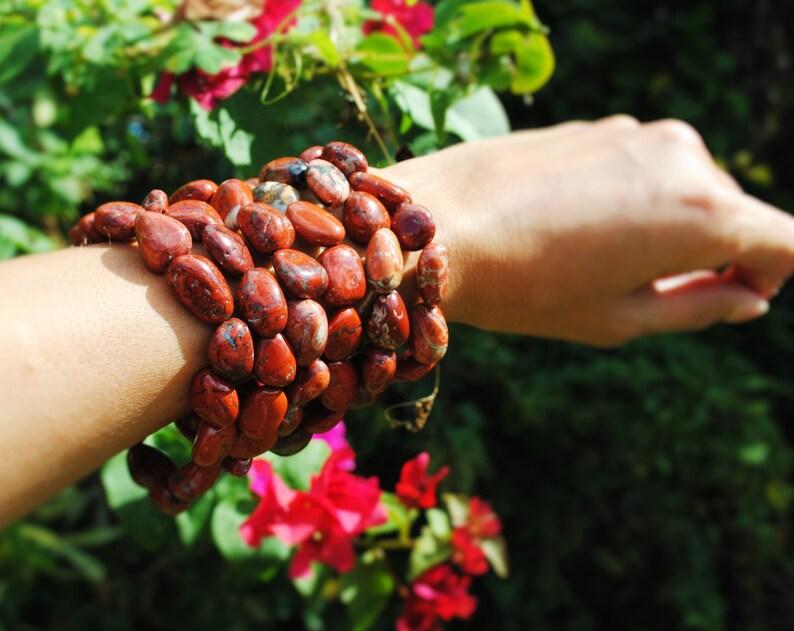 Poppy Jasper Nugget Bracelets Set of Two image 0