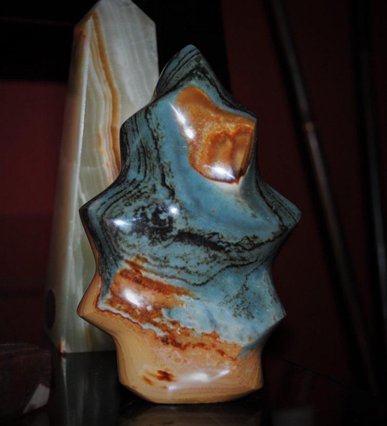 Polychrome/Desert Jasper Flame Sculpture 10 image 0