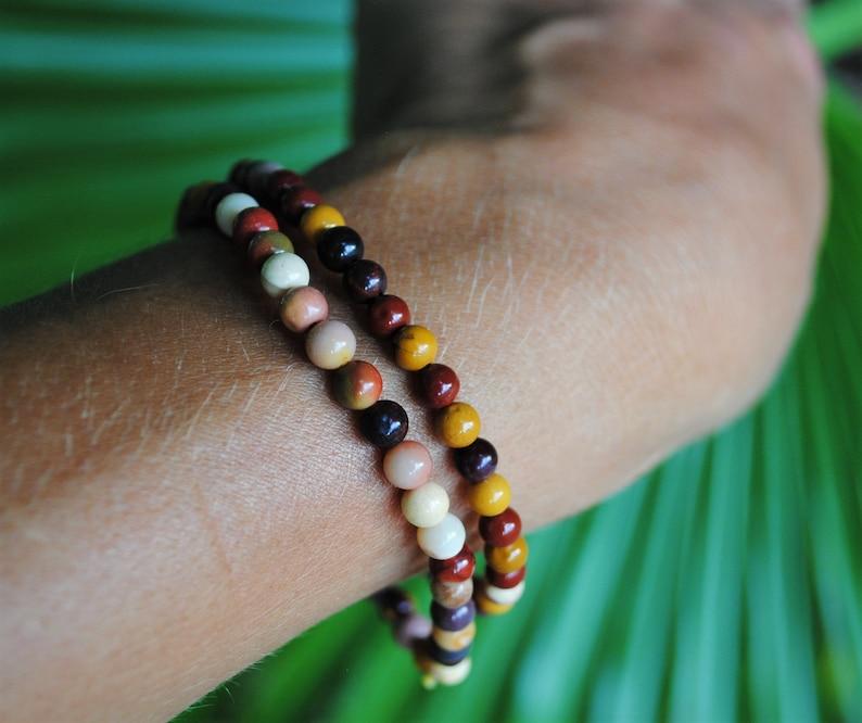Mookaite 4mm Bead Bracelets Set of Two image 0