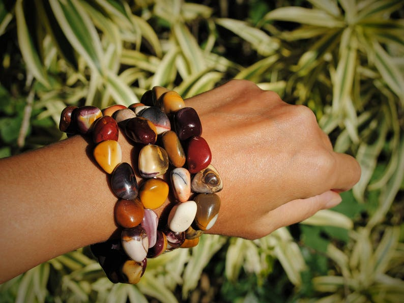 Mookaite Nugget Bracelets Set of Two image 0
