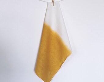 Marigold Dipped Linen Tea Towel