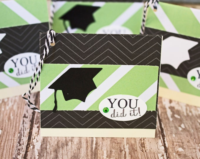 Set of 4, Graduation Gift Tags, Handmade Gift Tags, Graduation Cap Tags, Gift Tags, Graduation Cap, Tags, Graduation, Party, Hang Gift Tags