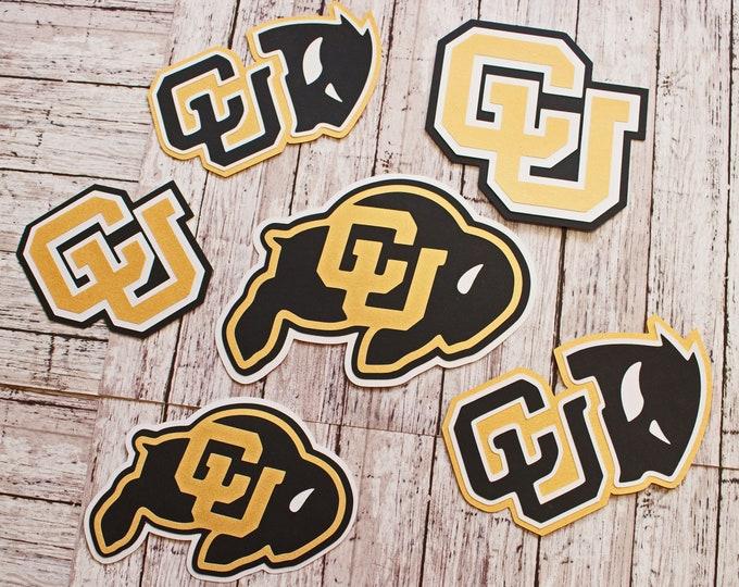 Any Color, Custom Mascot Set, College Scrapbook, Custom Embellishments, University Mascot, Alma Mater Spirit, Layered Paper, Mascot Die Cuts
