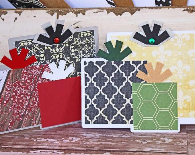 Christmas Present Die Cut, Layered Die Cut, Scrapbook, Embellishment, Christmas, Christmas Die Cut, Christmas Gift, Holiday, Handmade, Tags