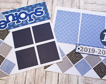 Any Color, Senior Year, High School, Scrapbook Page Set, Scrapbook Page, 12th Grade, School Years, Senior Class, High School Scrapbook Page