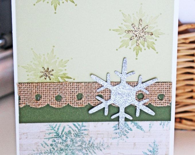 Handmade Snowflake Card, Snowflake Christmas Card, Merry Christmas Card, Handmade Christmas Card, Handmade Christmas Snowflake Christmas