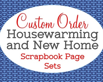 Custom Made, Any Color Pattern, New Home Scrapbook Set, First Home Memory Book, Housewarming Gift, Home Remodel Before & After, Family Album