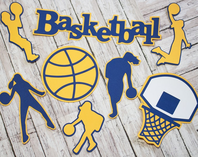 Any Color, Girls Basketball Die Cut Set, Feminine, Scrapbooking Embellishments, Female Sports, Team Color, Handmade Diecuts, Party Decor