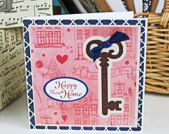 Antique Key Happy New Home Card - Home Sweet Home, Housewarming, New Home, Congratulations, Skeleton Key, Congrats, Antique Key, Happy Home