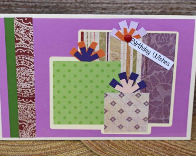 Birthday Present Card, Birthday Card, Custom Card, Personalized Card, Birthday Gift Card, Ladies, Greeting Card, Handmade Card, Card for Her