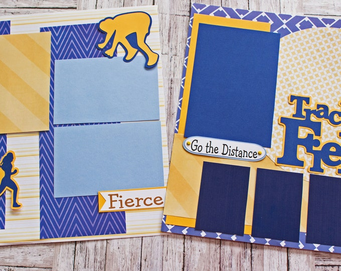 Pick Your Colors, Custom Made, Girls Track and Field, Scrapbook Page Set, Memory Book Kit, Ladies Sports, Custom Mascot Design, Personalized