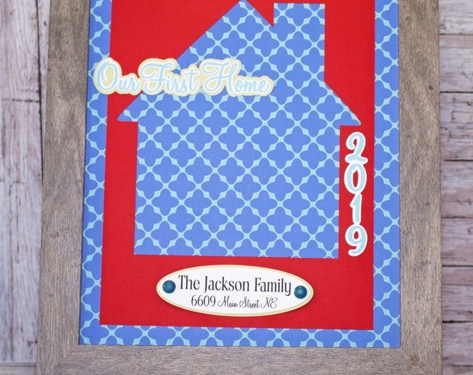 Any Color, Custom Housewarming Gift, Personalized New Home Gift, Personalized Paper Art, First Home, New Home Buyer, Realtor Closing Gift