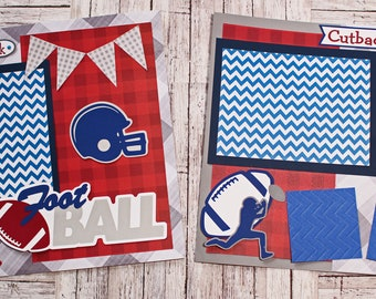 Custom Colors, Football Scrapbook Page Set, Specially Designed, High School Mascot, Premade Football Pages, Personalized, Team Spirit, YAFL