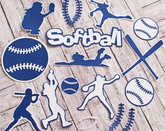 Any Color, Ladies Softball, Die Cut Set, Female, Scrapbooking Design, High School, Soft Baseball, Team Color, Handmade Diecuts, Party Decor