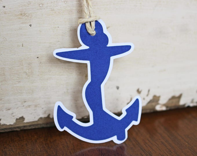 2 Anchor Die Cuts, Nautical Die Cut Set, Sailor Die Cut, Seaman Die Cut, Sailing Die Cut, Sailing Scrapbook, Handmade Nautical Scrapbook