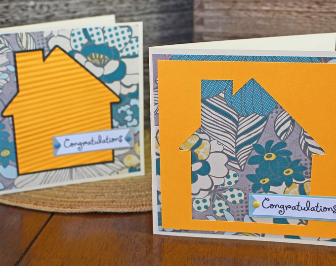 Modern, House Warming, Handmade Card, Tropical, House, Floral Print, New Home, Congratulations, Housewarming, Congrats, First Home, Greeting