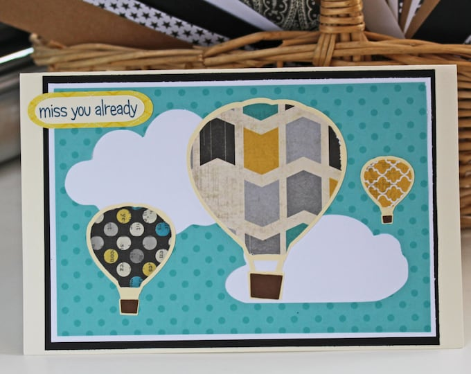 Hot Air Balloon Card, Going Away Card, Congratulations Card, Graduation Card, Get Well Card, Birthday Card, Encouragement Card