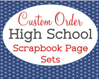Custom Made, School Mascot Color, High School Scrapbook Set, Memory Book, Graduation Gift, Freshman Sophomore Junior Senior, All Four Years