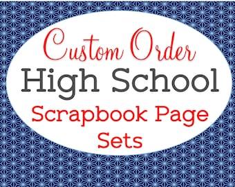 Custom Made, School Mascot Color, High School Scrapbook Set, Memory Book, Graduation Gift, Freshman Sophomore Junior Senior, All Four Years