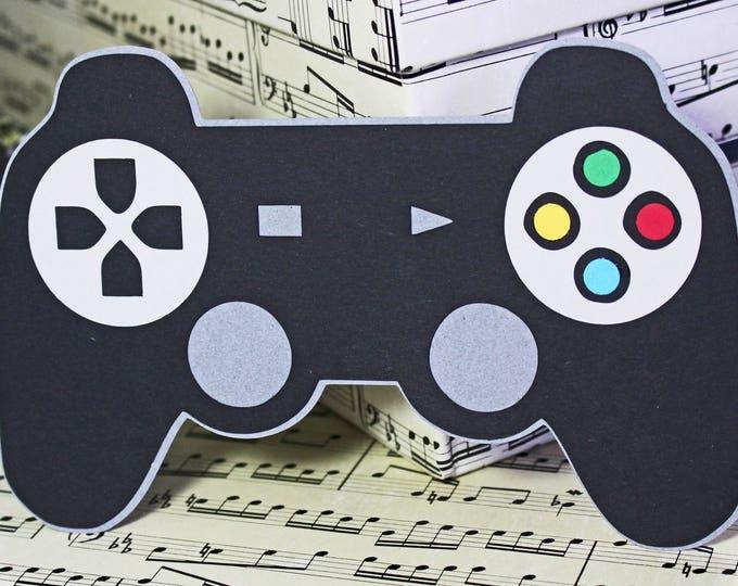 Video Game Contorller Die Cut, Game Controller Die Cut, Video Game Die Cut, Game Night Scrapbook, Handmade Die Cuts, Gamer Scrapbook, Gamer