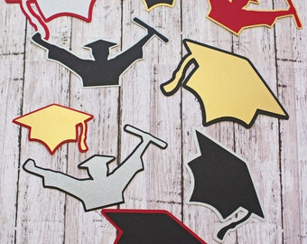 Any Color, Graduation Die Cut Set, Custom Die Cut Set, High School Grad, High School Scrapbook, Die Cuts, Custom Die Cuts, Graduation Cap