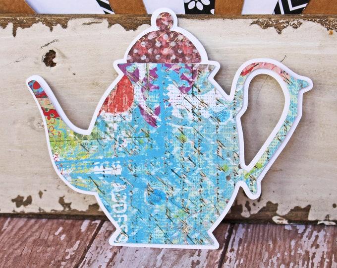 2 Teapot Die Cuts, Tea Party Scrapbook Set, Tea Time Die Cut, English Tea, Paper, Scrapbook Die Cut, Scrapbooking, Party Decor, Place Card