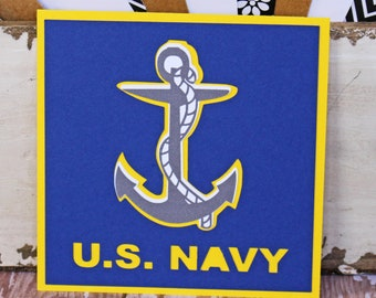 US Navy Die Cut, Layered Die Cut, Navy Die Cut, Naval Die Cut, Military Die Cut, Die Cut, Sailor Die Cut, Naval Sailor Die Cut, Scrapbook