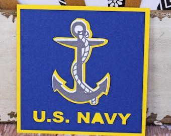 US Navy Die Cut, Layered Die Cut, Navy Die Cut, Naval Die Cut, Military Die Cut, Die Cut, Sailor Die Cut, Naval Sailor Die Cut, Scrapbook