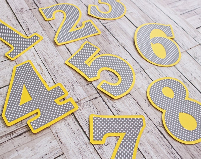 Any Color, Any Pattern, Number Die Cuts, Layered Diecut Set, 12 Month, Baby Months, Birthday Number, Scrapbook Embellishment, Numbered Paper
