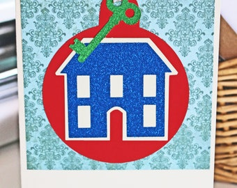 Custom, House Ornament Card, Christmas Card, Holiday Card, House Christmas Cards, Home Holiday Cards, Handmade Cards, Real Estate Cards