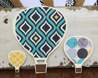 Set of 3, Hot Air Balloon Die Cuts, Ballooning Die Cuts, Hot Air Balloon, Balloonist, Ballooning, Scrapbook, Balloon, Die Cuts, Scrapbook