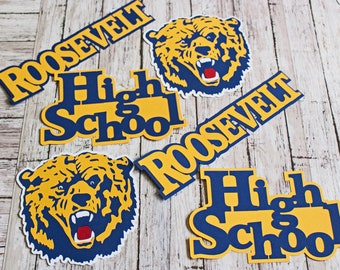 Any Color, Custom Mascot Set, High School, Custom Die Cut Set, High School Mascot, High School Scrapbook, Die Cuts, School Mascot Die Cuts
