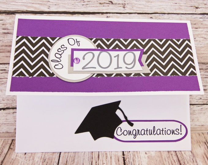 Choose Custom Color, Graduation Gift Card Holder, Graduation Money Holder, Graduation Card, Handmade Card, Graduation, Gift, Money Card