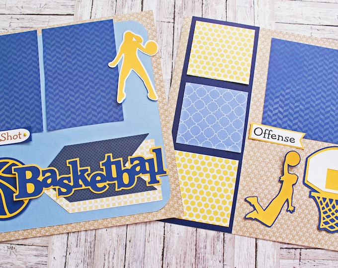 Pick Your Colors, Custom Made, Girls Basketball, Scrapbook Page Set, Memory Book Kit, Ladies Basketball, Custom Mascot Design, Personalized
