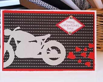 Motorcycle, Heart, Anniversary, Valentine, Handmade, Card, Happy, Valentines, Motorbike, Chopper, Harley, Biker, Bike, Motor, Cycle, Love