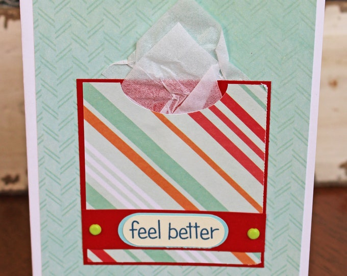 Tissue Box Feel Better Card, Tissue Box Card, Get Well Card, Feel Better, Card, Cold, Flu, Illness, Get Better Soon, Get Well Soon, Handmade