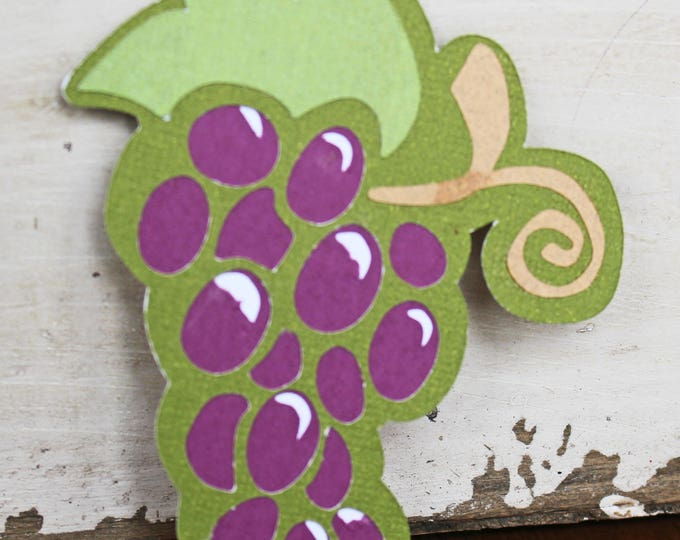 Grapes on Vine Die Cut, Vineyard, Die Cut, Wine, Die Cuts, Grapes, Handmade, Vineyards, Scrapbooks, Grape, Vine, Scrapbook, Fruit, Vino
